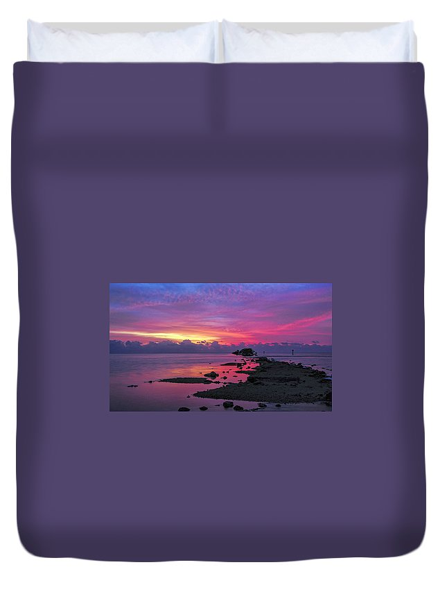 Landscape Land Nature Sea Florida Duvet Cover featuring the photograph Black Point by LOsorio Photography