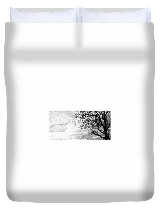 Sky Duvet Cover featuring the photograph Black Rain by Ed Smith