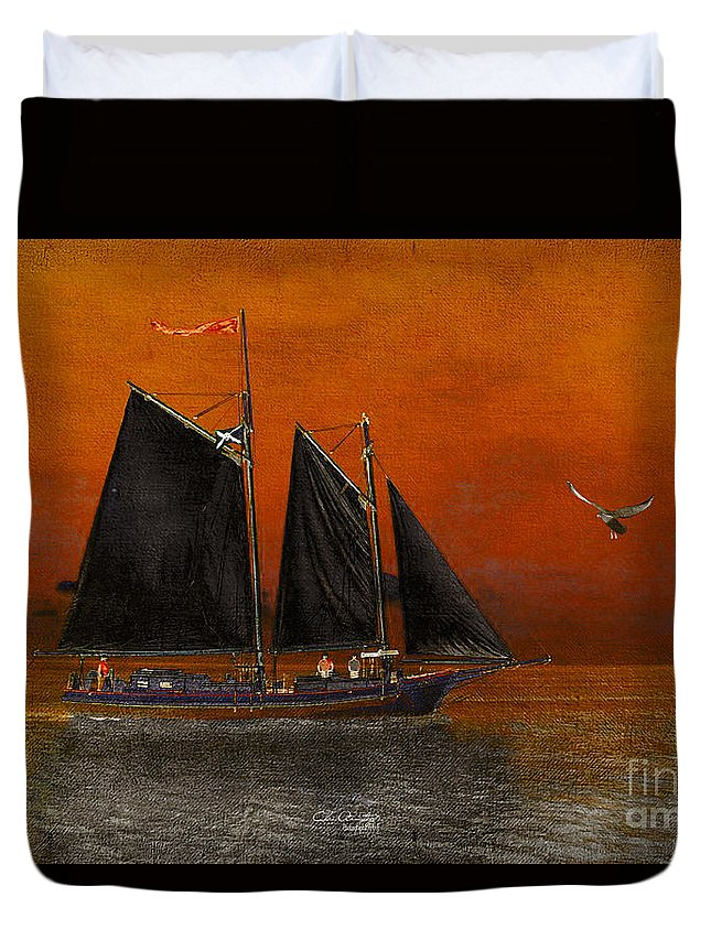 Black Sails In The Sunset Duvet Cover For Sale By Chris Armytage