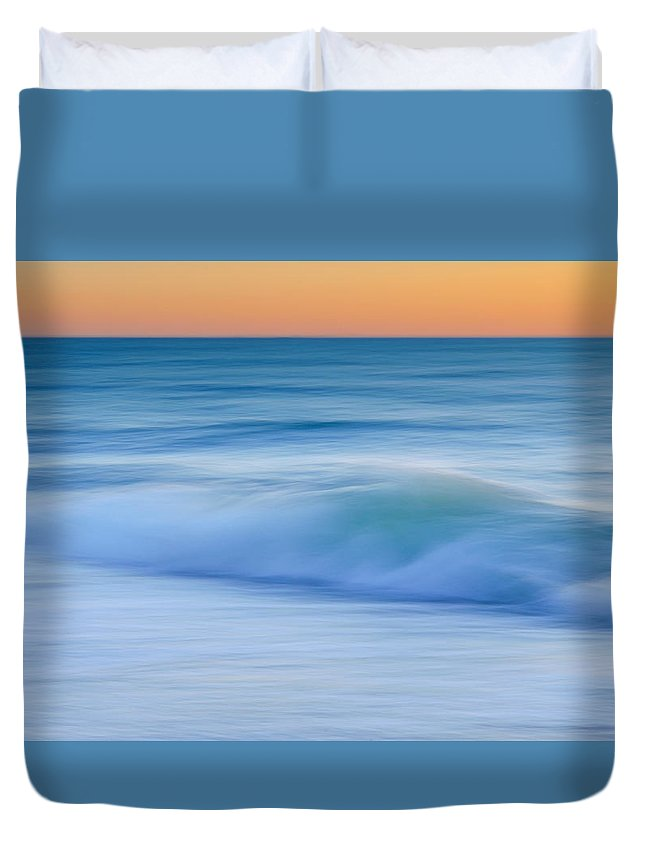Sochi Duvet Cover featuring the photograph Black Sea At Dusk by Peter Mojzes