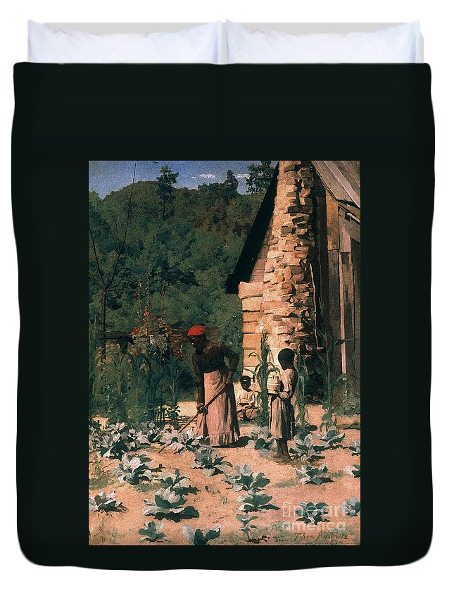 1879 Duvet Cover featuring the photograph Black Sharecroppers, 1879 by Granger