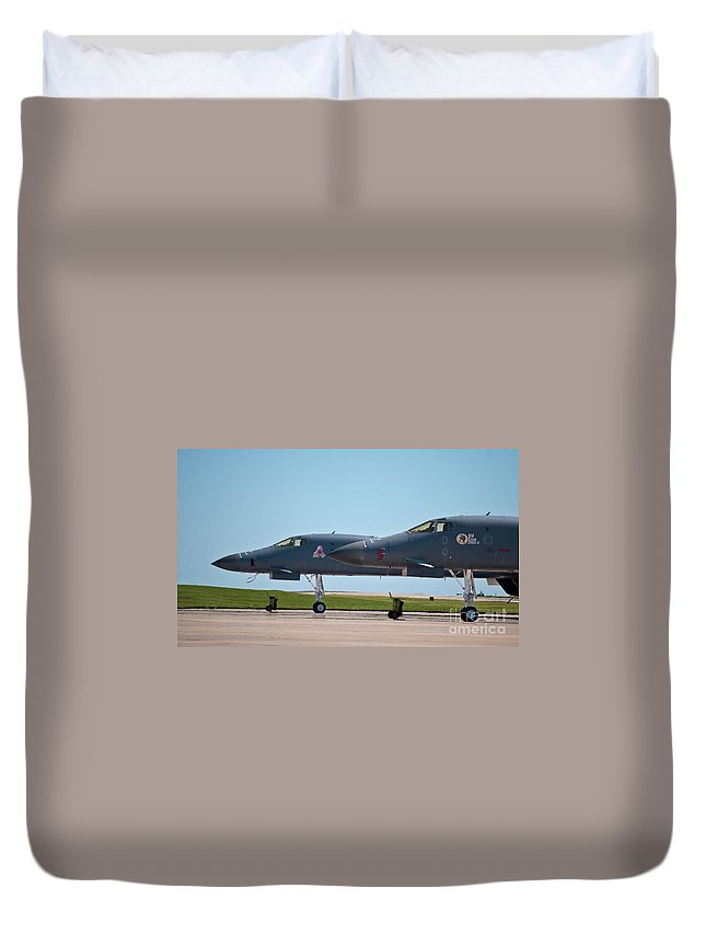 B-1 Duvet Cover featuring the photograph Black Widow And Old Crow Express 3 by Steven Canan