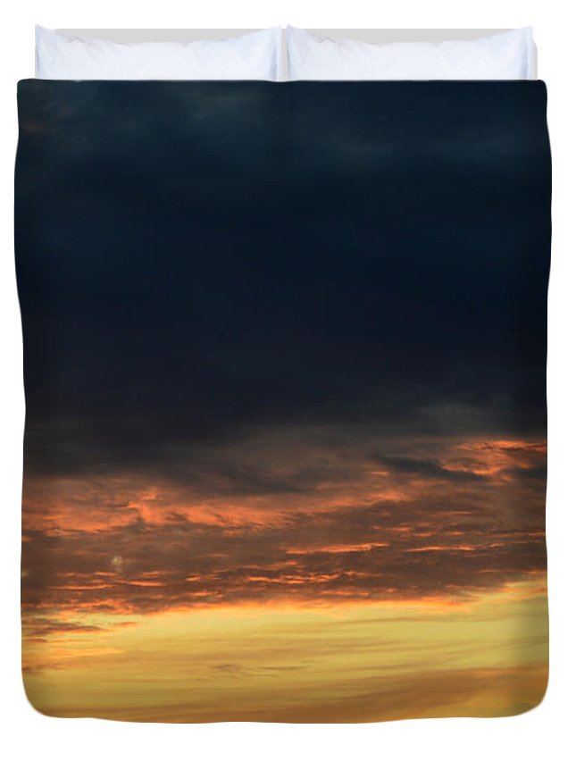 Abstract Duvet Cover featuring the photograph Black Yellow Orange 2 by Lyle Crump