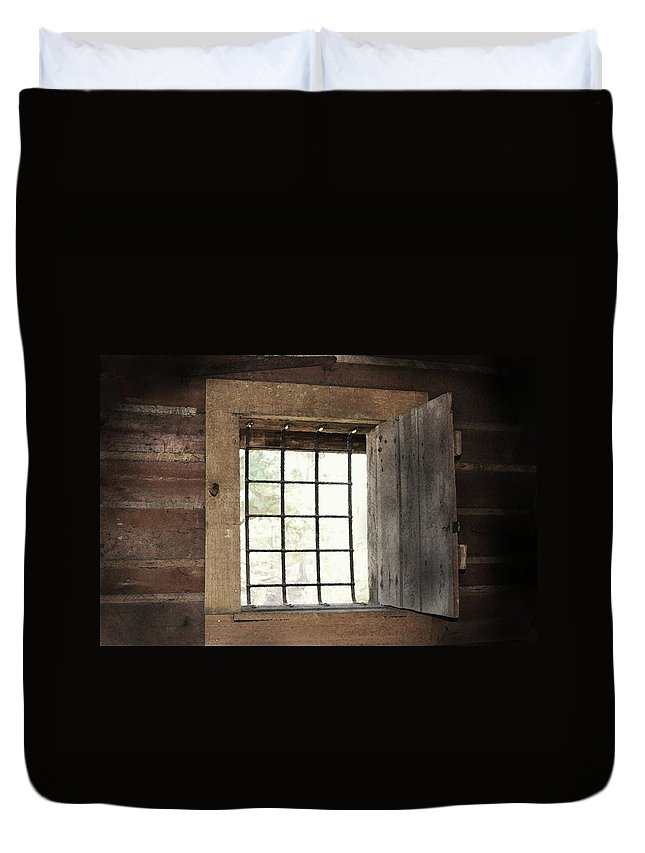 Primitive Photograph Duvet Cover featuring the photograph Blacksmith's View by Kim Henderson