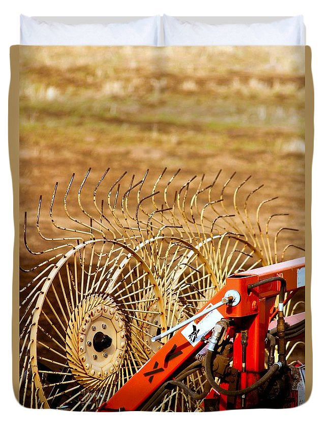 Duvet Cover featuring the photograph Blades by Janine Moore