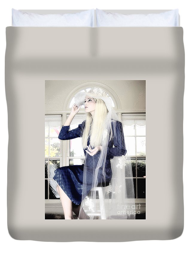 Clay Duvet Cover featuring the photograph Blanco Beauty by Clayton Bruster