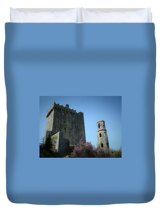 Irish Duvet Cover featuring the photograph Blarney Castle And Tower County Cork Ireland by Teresa Mucha
