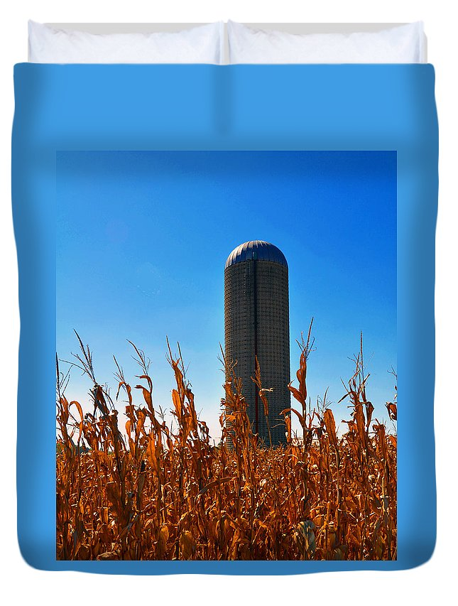Corn Duvet Cover featuring the photograph Blast Off by Brittany Horton