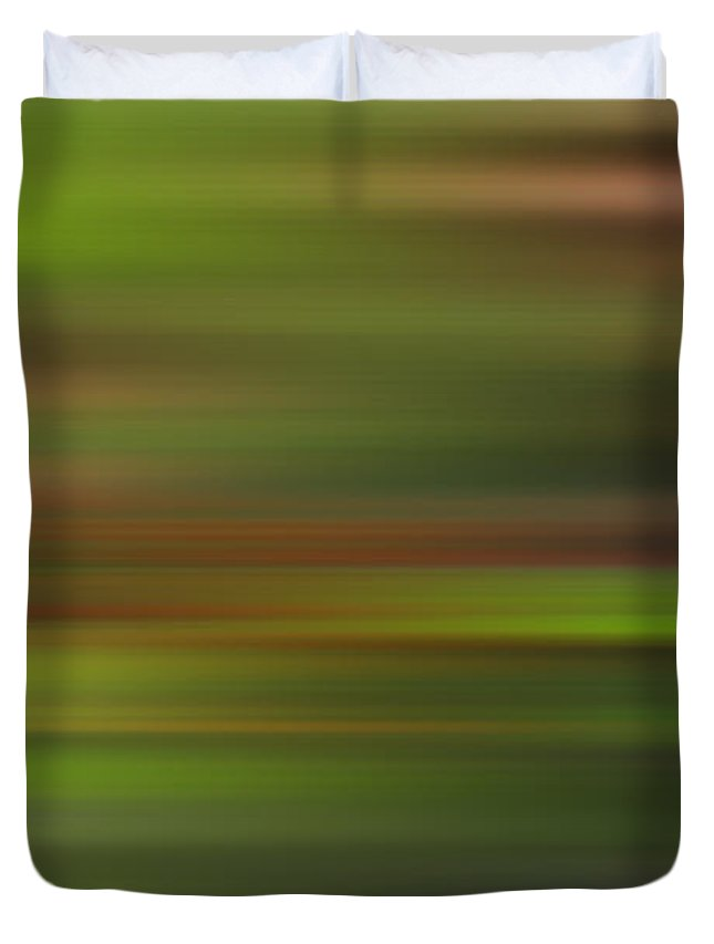 Manipulated Duvet Cover featuring the photograph Blended Forest by L Bee
