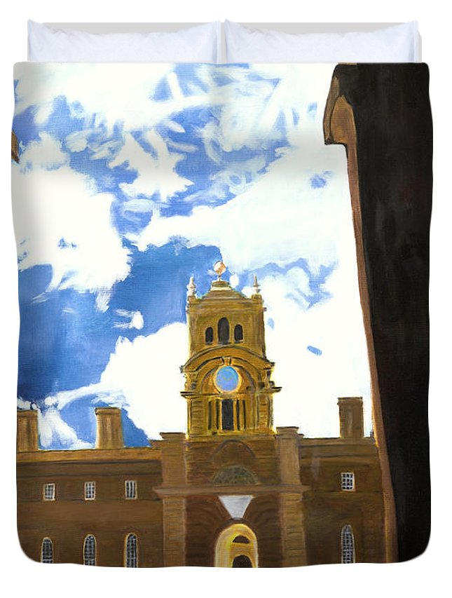 Churchill Duvet Cover featuring the painting Blenheim Palace England by Avi Lehrer