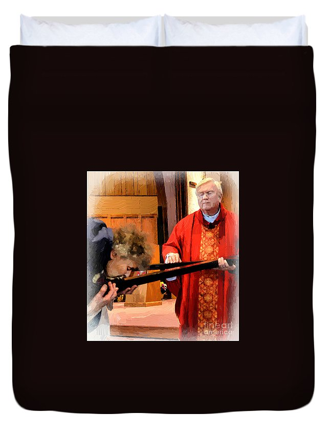 God Duvet Cover featuring the photograph Blessed Be God Forever by Maggie Magee Molino
