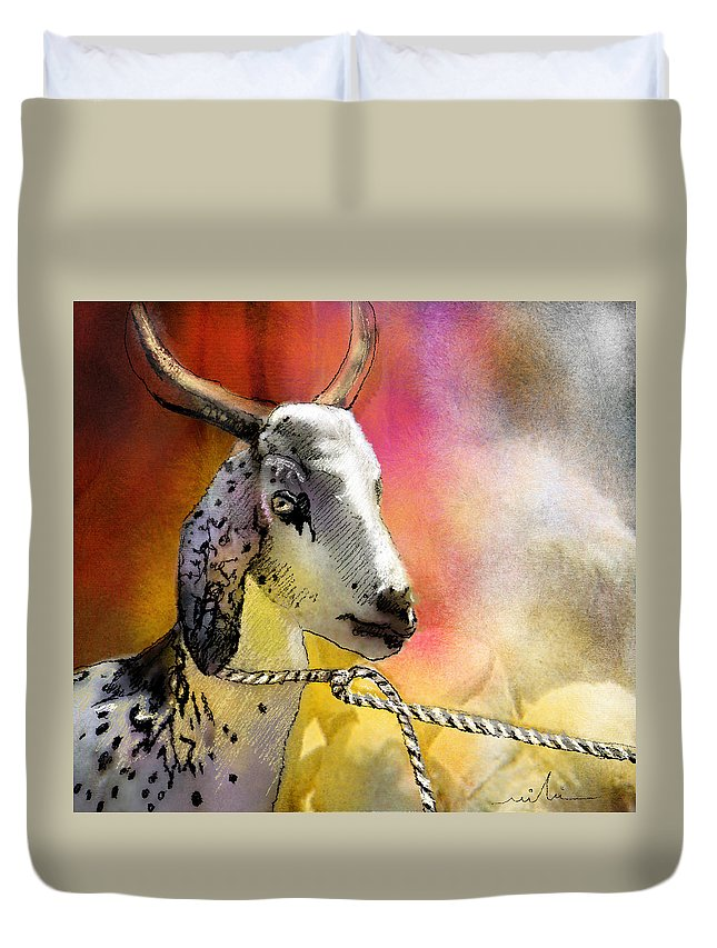 Eid Ul Adha Duvet Cover featuring the painting Blessings Be Upon You by Miki De Goodaboom