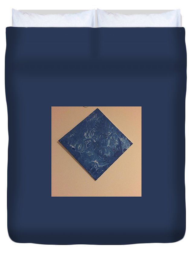 Blue Duvet Cover featuring the painting Bleu #2 by Samuel Holliday
