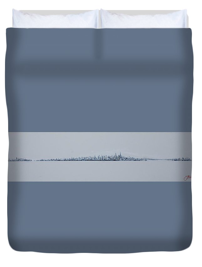 Jack Duvet Cover featuring the painting Blizzard 2011 by Jack Diamond