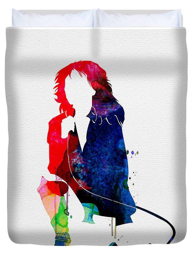 Blondie Duvet Cover featuring the painting Blondie Watercolor by Naxart Studio