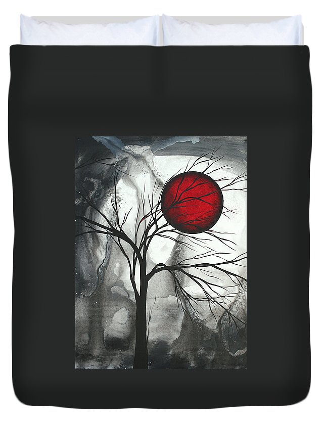 Huge Duvet Cover featuring the painting Blood Of The Moon 2 By Madart by Megan Duncanson
