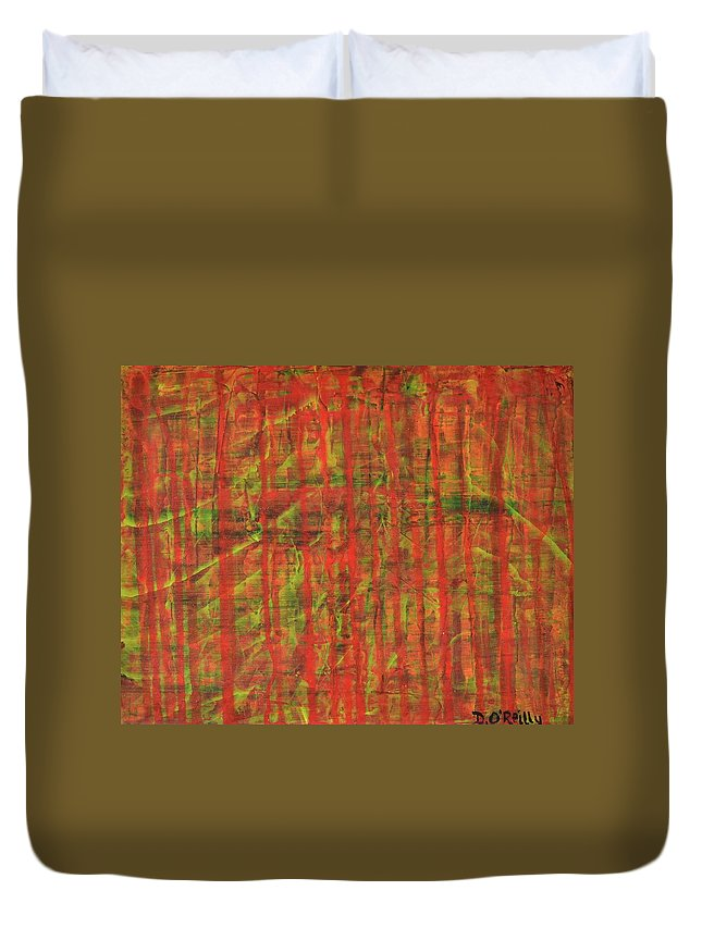 Duvet Cover featuring the painting Blood Shot by Declan O'Reilly