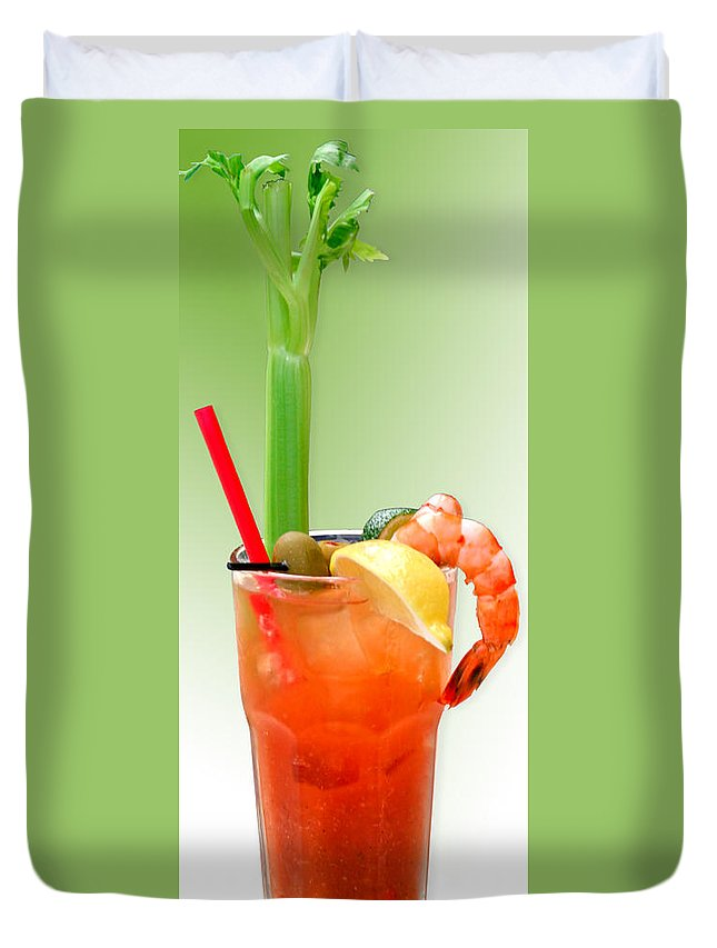 Drinks Duvet Cover featuring the photograph Bloody Mary Hand-crafted by Christine Till