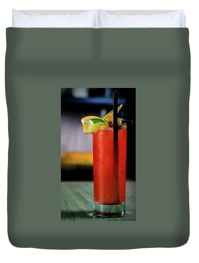 Bloody Mary Duvet Cover featuring the photograph Bloody Mary by Ryan Smith