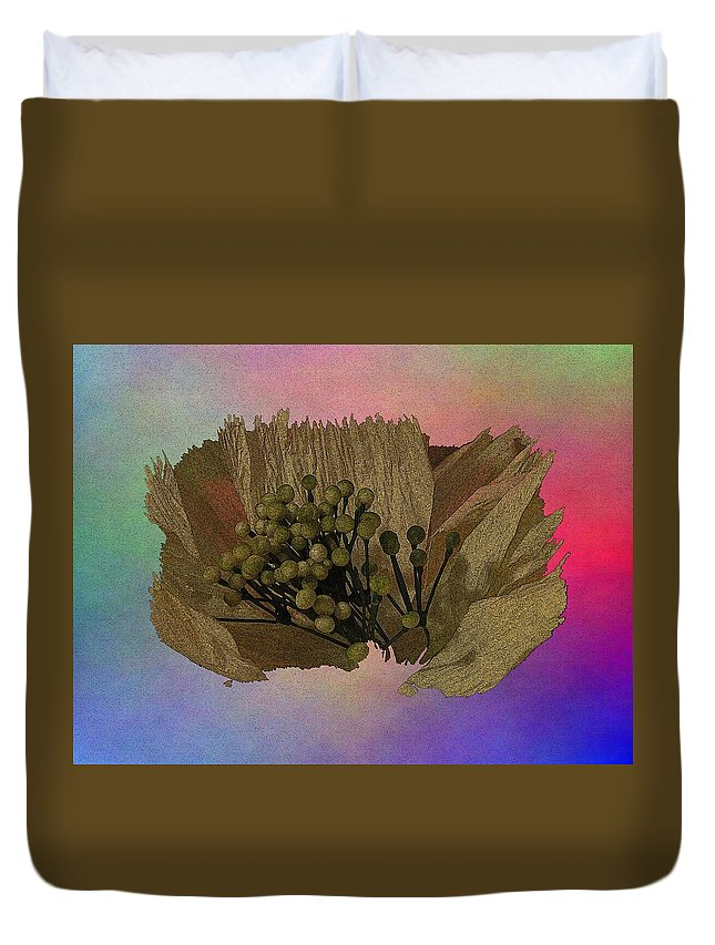 Abstract Duvet Cover featuring the digital art Blooming 2 by Tim Allen