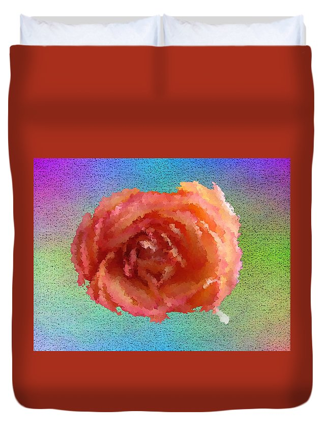 Abstract Duvet Cover featuring the digital art Blooming 4 by Tim Allen