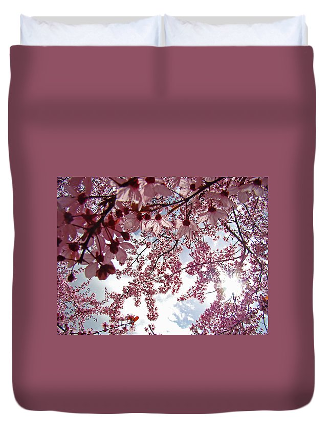 Tree Duvet Cover featuring the photograph Blossom Artwork Spring Flowers Art Prints Giclee by Baslee Troutman
