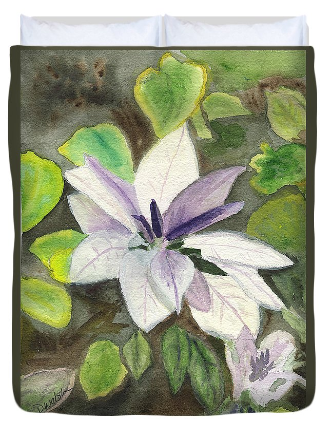 Blossom Duvet Cover featuring the painting Blossom At Sundy House by Donna Walsh
