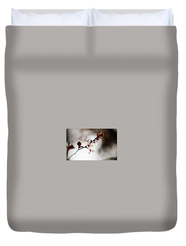 Blossom Duvet Cover featuring the digital art Blossom by Dorothy Binder