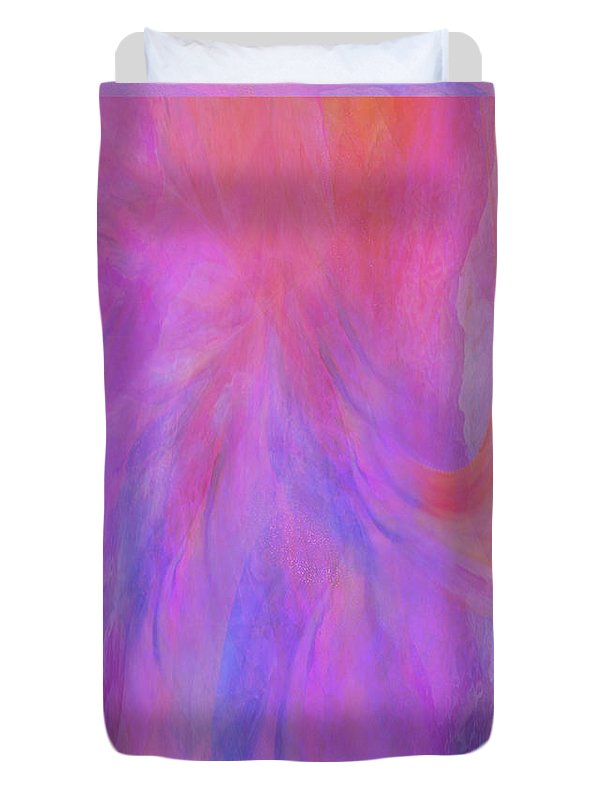 Digital Art Duvet Cover featuring the digital art Blossom by Linda Murphy