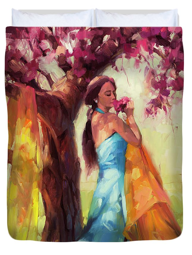 Country Duvet Cover featuring the painting Blossom by Steve Henderson
