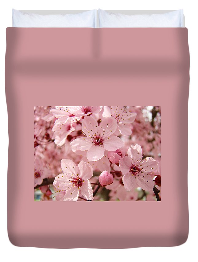 Nature Duvet Cover featuring the photograph Blossoms Art Prints 63 Pink Blossoms Spring Tree Blossoms by Baslee Troutman