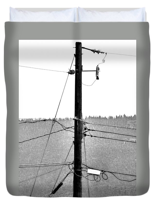 Blot Duvet Cover featuring the photograph Blot On The Landscape by Will Borden