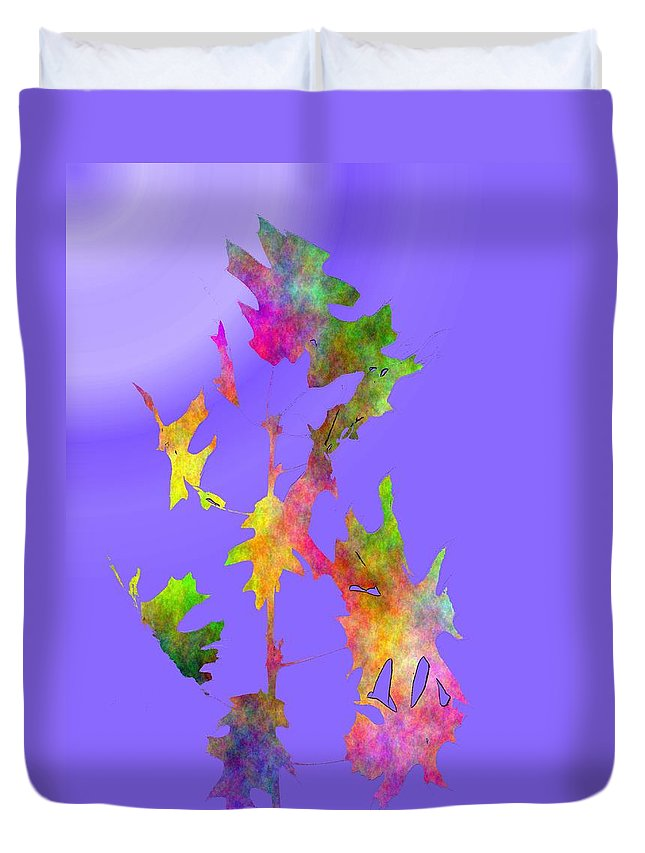 Fall Duvet Cover featuring the digital art Blowin In The Wind 7 by Tim Allen