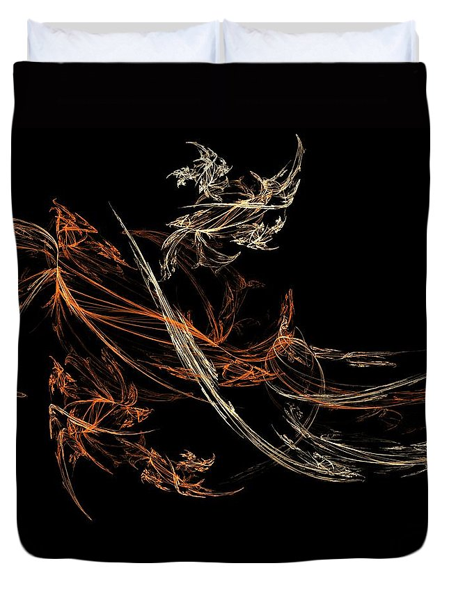 Fantasy Duvet Cover featuring the digital art Blowing In The Wind by David Lane