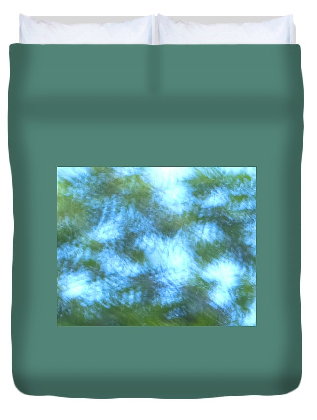 Natanson Duvet Cover featuring the mixed media Blowing In The Wind by Steven Natanson