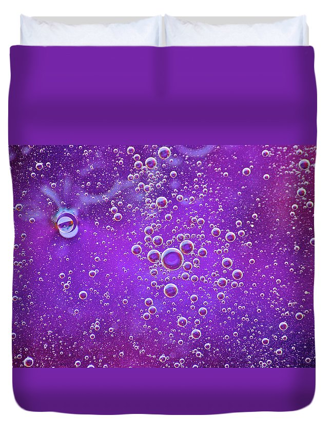 Bubble Duvet Cover featuring the photograph Blown Grape by Donna Shahan