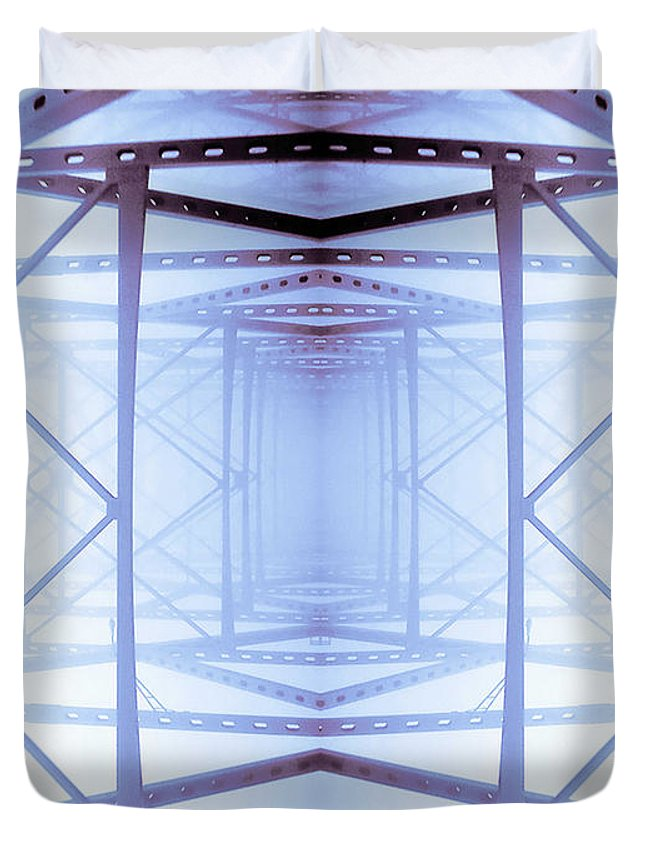 Abstract Duvet Cover featuring the photograph Blue Abstract by Keith Allen