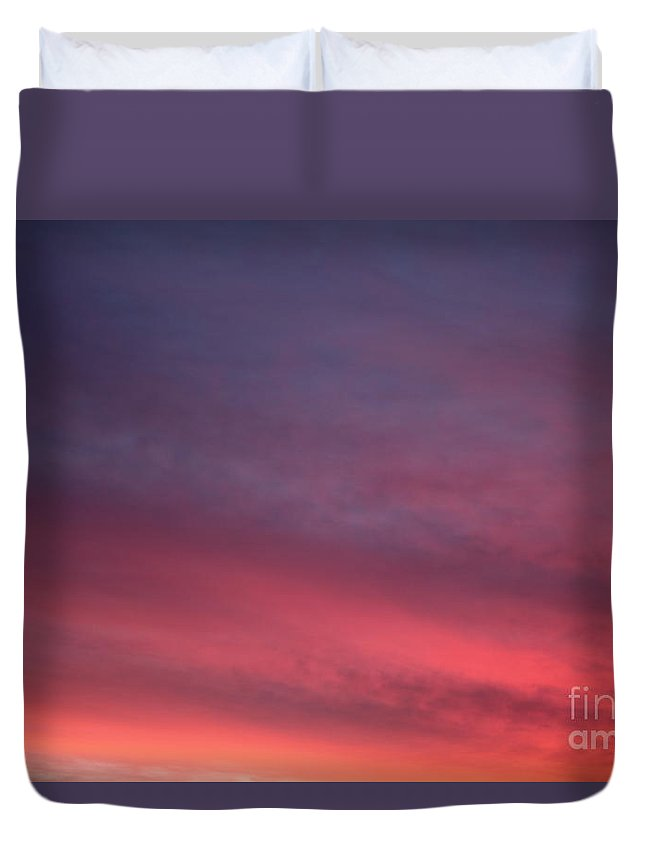 Sunset Duvet Cover featuring the photograph Blue And Orange Sunset by Nadine Rippelmeyer