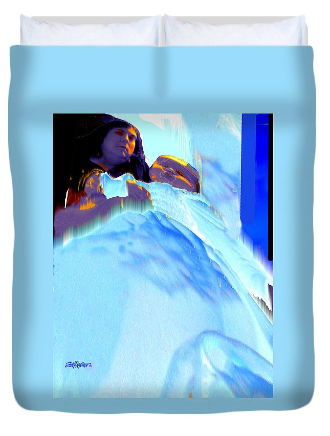 Baby Duvet Cover featuring the photograph Blue Blanket by Seth Weaver