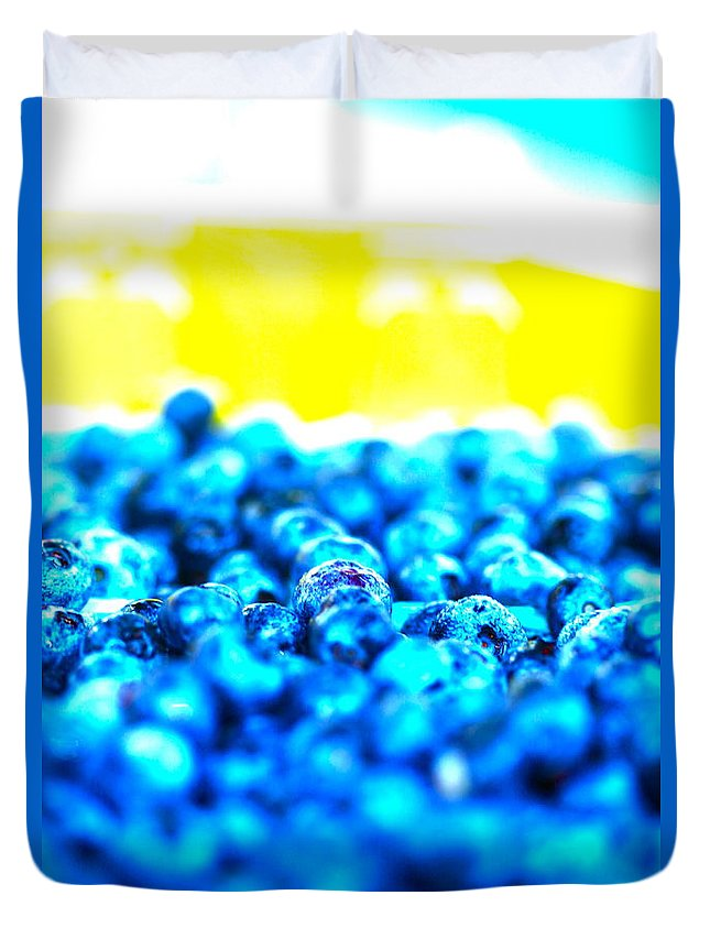 Blue Duvet Cover featuring the photograph Blue Blur by Nadine Rippelmeyer