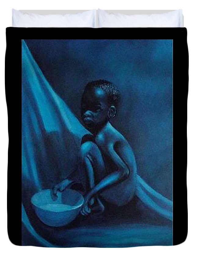 Figurative Duvet Cover featuring the painting Blue Boy by Booker Poole