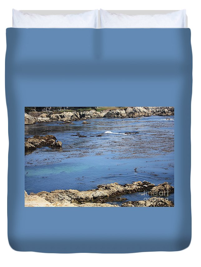 California Duvet Cover featuring the photograph Blue California Bay by Carol Groenen