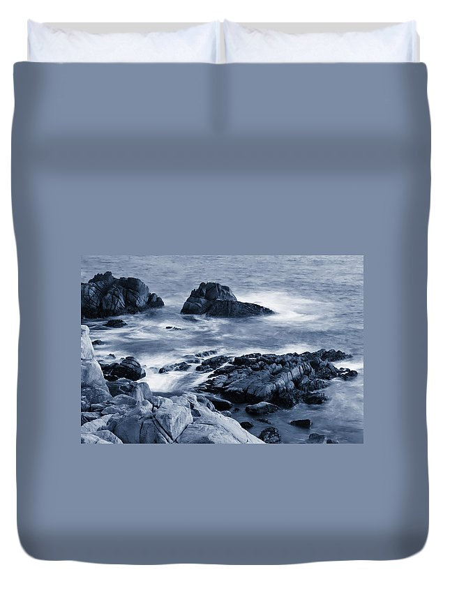 Carmel Duvet Cover featuring the photograph Blue Carmel by Renee Hong