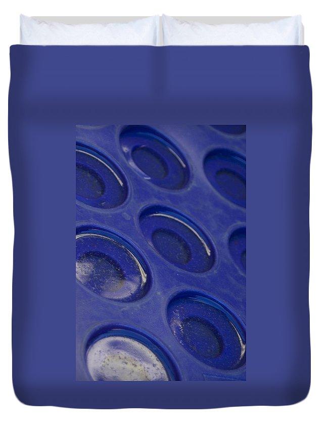 Blue Circles Duvet Cover featuring the photograph Blue Circles by Sara Stevenson