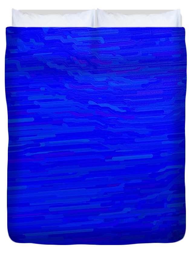 Blue Duvet Cover featuring the digital art Blue Currents by April Patterson