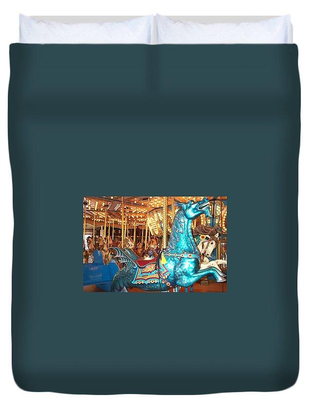 Dragon Duvet Cover featuring the photograph Blue Dragon by Barbara McDevitt