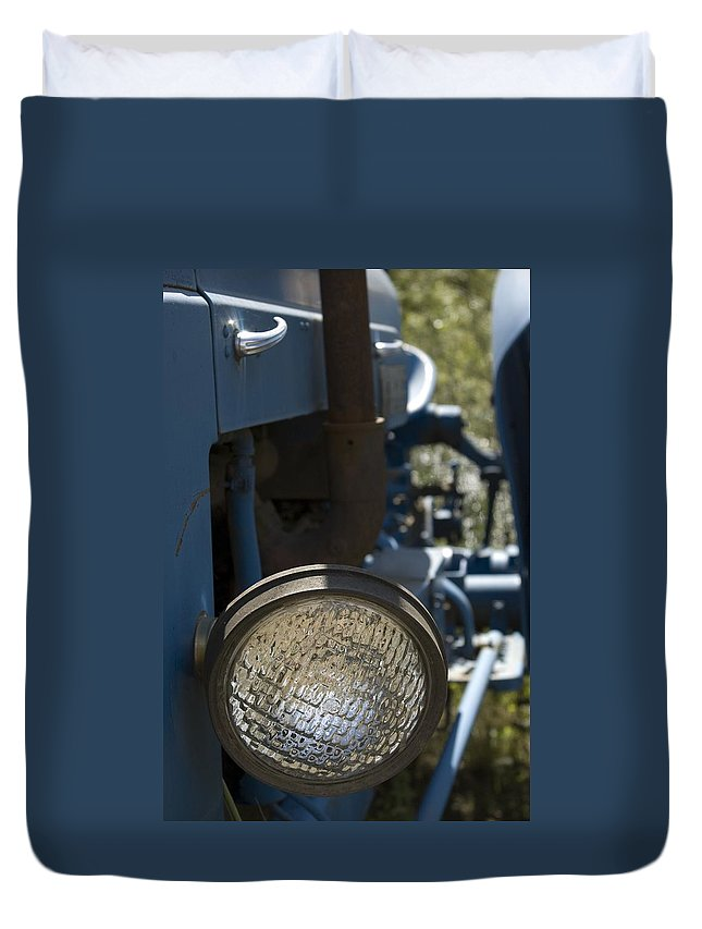 Tractor Duvet Cover featuring the photograph Blue Eye by Sara Stevenson