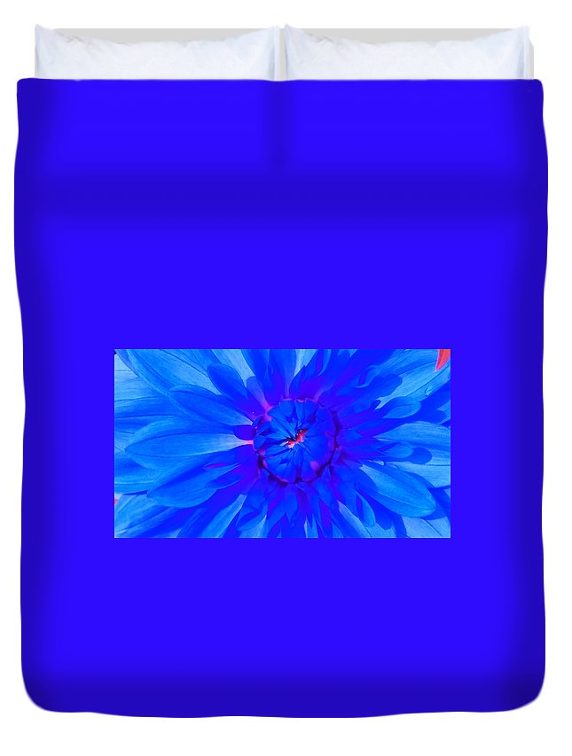 Blue Duvet Cover featuring the photograph Blue Flower by Nick Photography