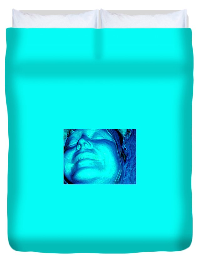 Blue Duvet Cover featuring the photograph Blue Goddess by Wayne Potrafka