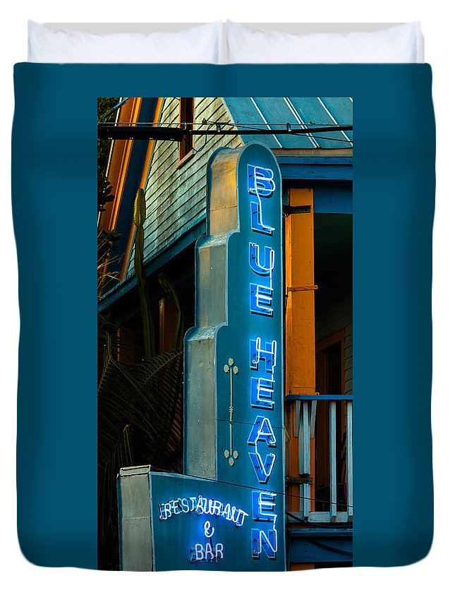 Architecture Duvet Cover featuring the photograph Blue Heaven by Ed Gleichman